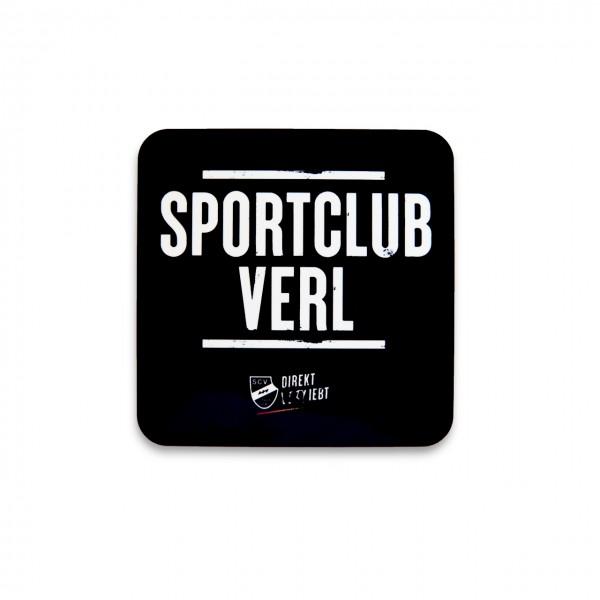 Sportclub Verl Korkuntersetzer schwarz