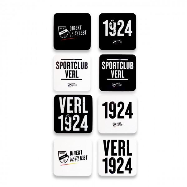 4er Set Sportclub Verl Korkuntersetzer