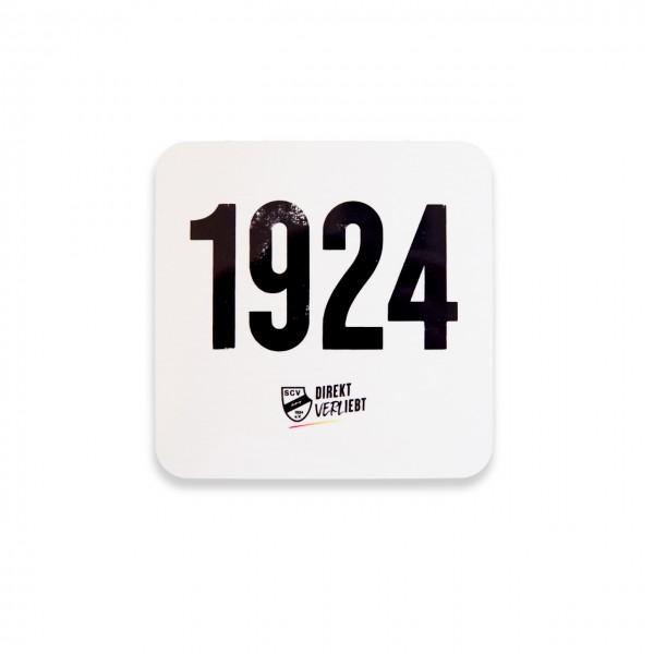 1924 Korkuntersetzer weiß