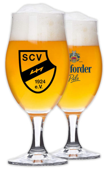 6er Pack Pils-Glas Sportclub Verl