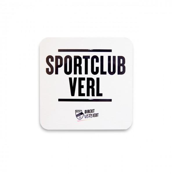 Sportclub Verl Korkuntersetzer weiß
